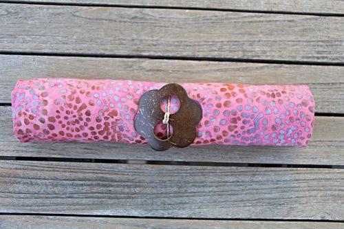 1-3004 Bantas: pink mit Ornamenten