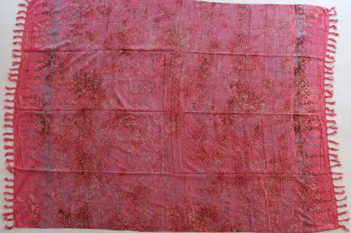Sarong pink mit Ornamenten