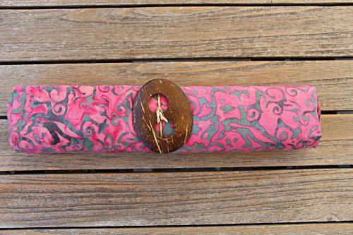1-3003 Sarong Sedang: rosa mit Ornamenten in braun bis grau