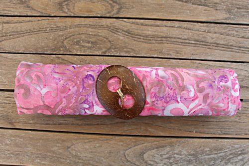 1-3001 Badetuch rosa mit weiß