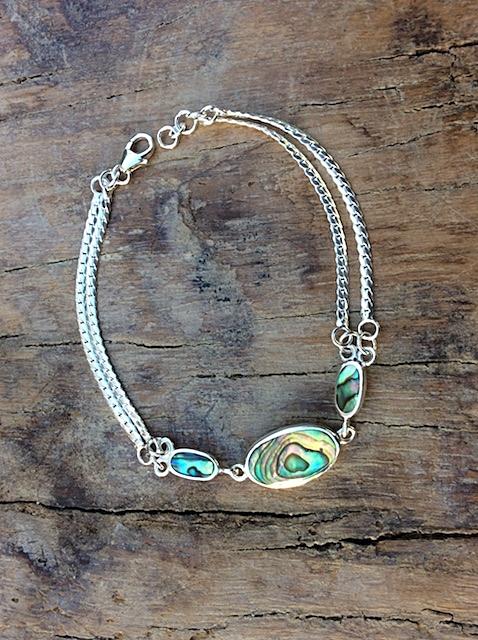 Armband in Silber mit Elementen aus Südseeperlmutt