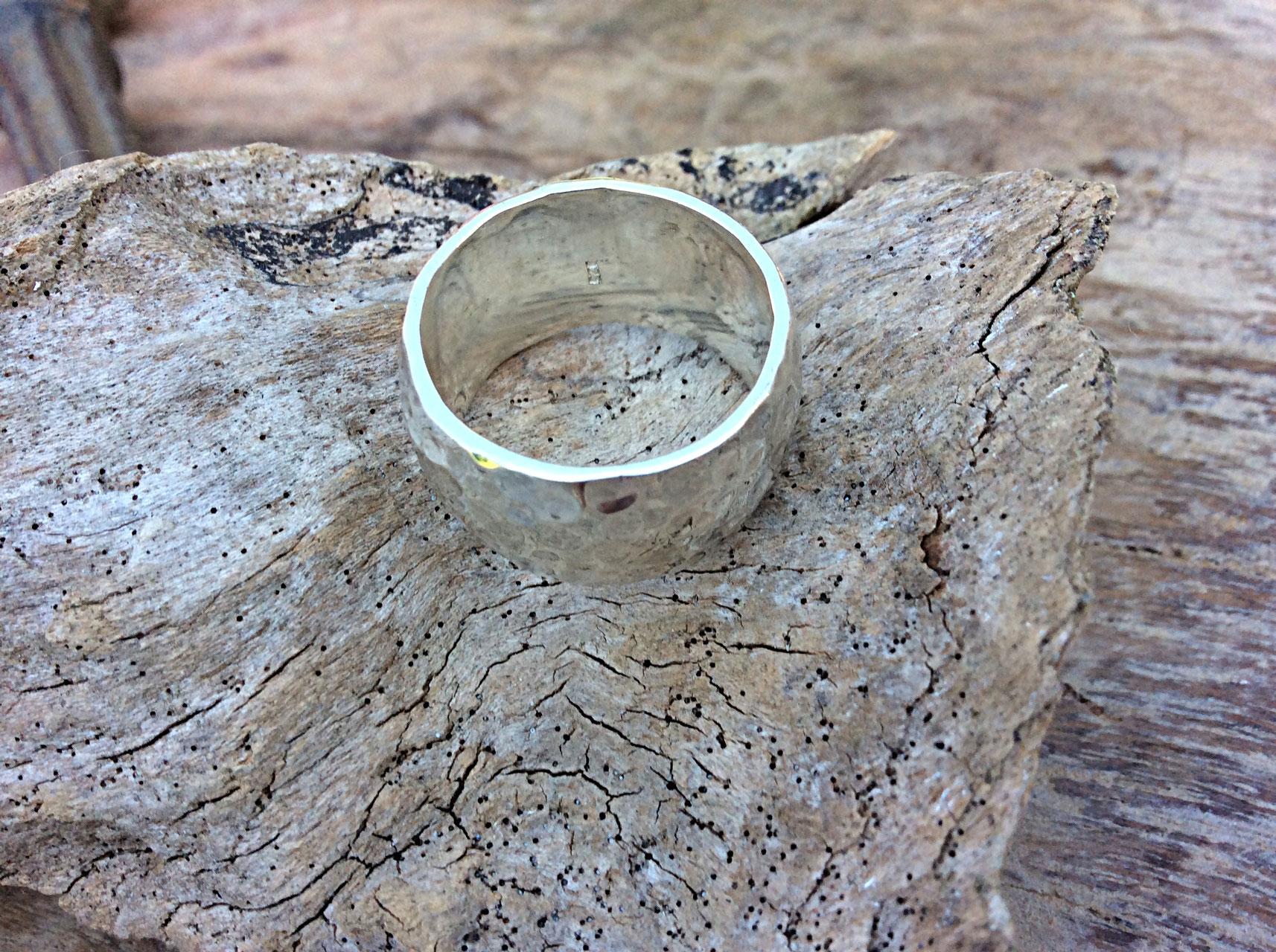 Silberring gehämmert 7mm
