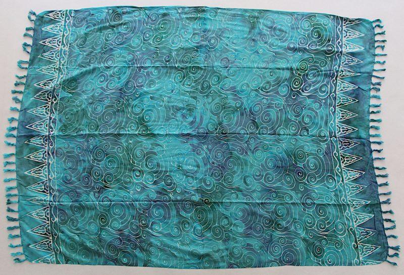 1-4007 Pidpid: blaugrün mit türkis und Spirallinien in weiß