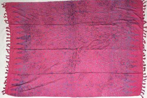 1-3012-2Sarong Gyanjar: Mangupura: pink mit Ornamenten in zartlila Verläufen