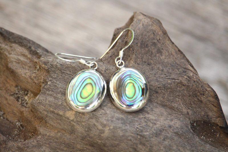 9-4506-1 Ohrringe abalony rund